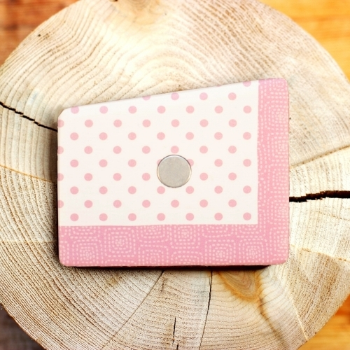Wooden Pocket Square   Pink Dots   Baffi   Baltic Birch Wood