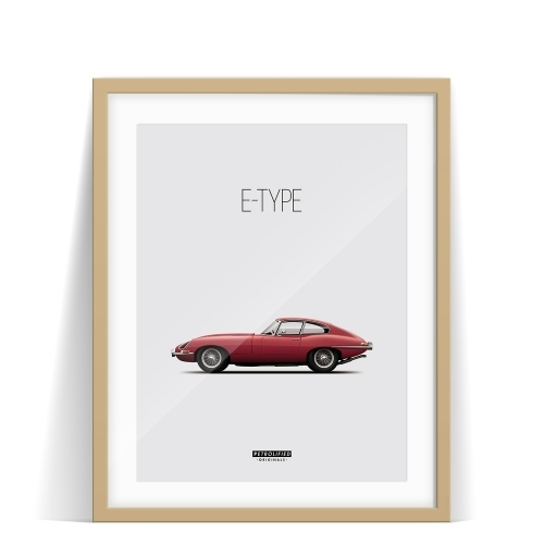 car prints, jaguar, jaguar etype, luxury car art