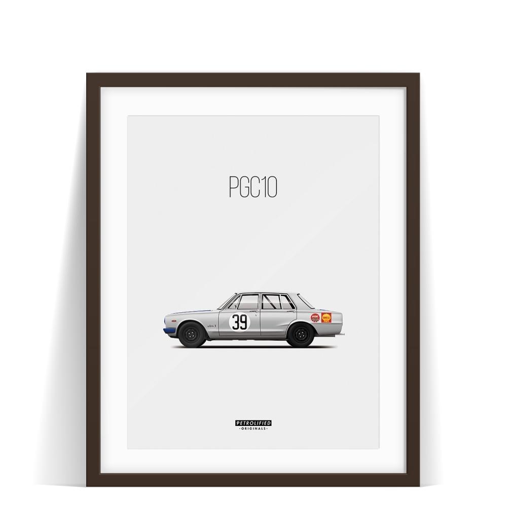 car prints, Nissan Skyline PGC10, luxury car art