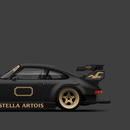 car prints, Stella Artois, luxury car art