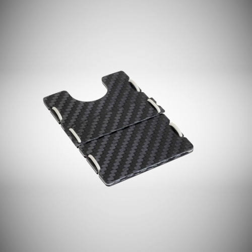 RIFD Carbon Fiber Wallet - White