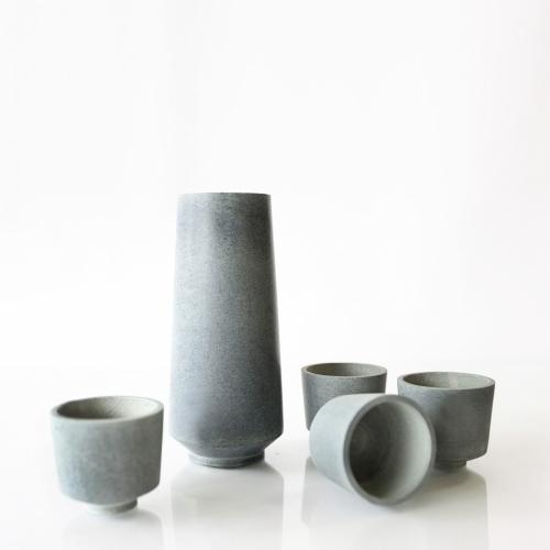 Soapstone Sake Set of 4