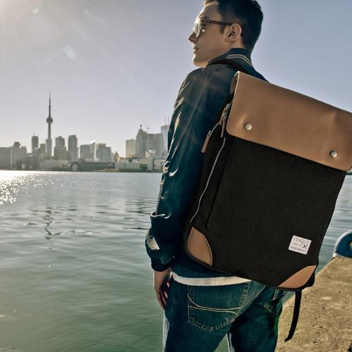 Flatsquare Rucksack | Grey, Brown, or Black | Venque