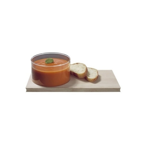 Carving Board and Glass Bowl