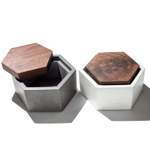 Hexagon Box, Grey, IN.SEK Design