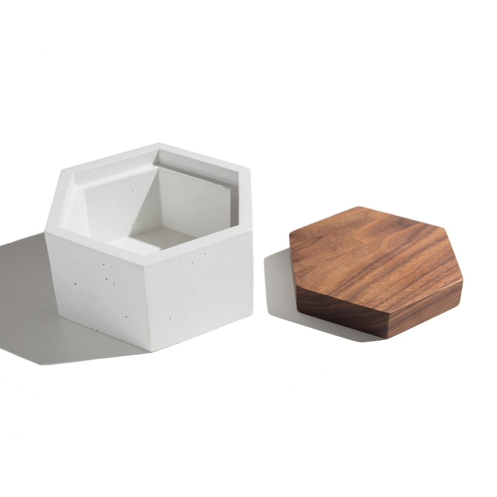 Hexagon Box, White, IN.SEK Design