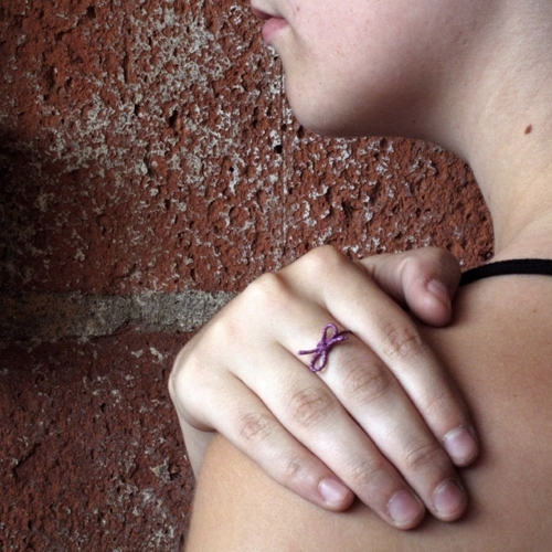 Forget Me Knot Ring, Purple