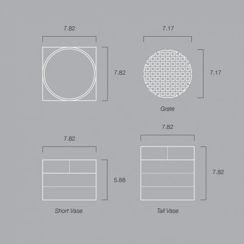 Short Utility Vase |Brown | Luur