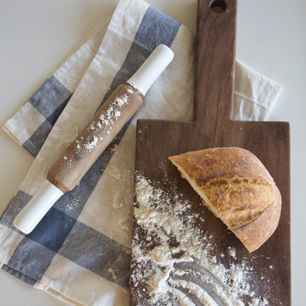 Dipped Wooden Rolling Pin, Rose & Fitzgerald