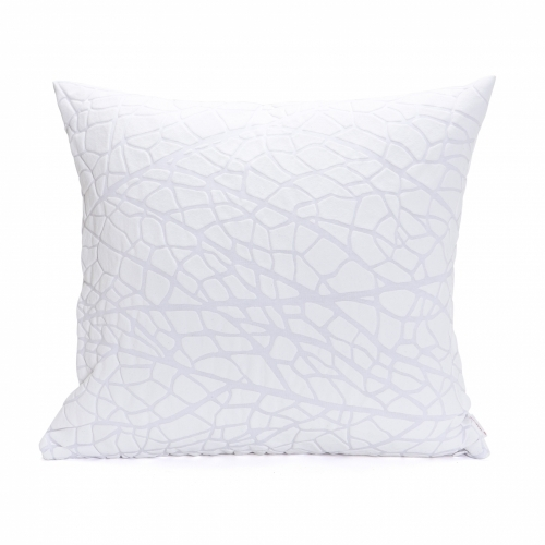 Vein Pillow Cover, White, Mikabarr