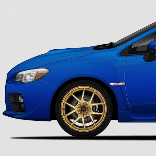 Subaru WRX STI Generations Print, Unrivaled