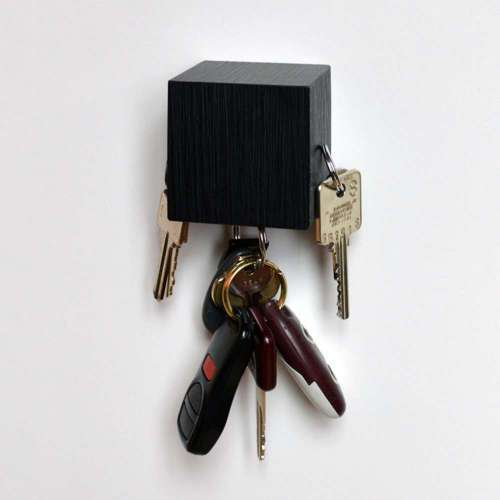 Kube Key Holder, Black