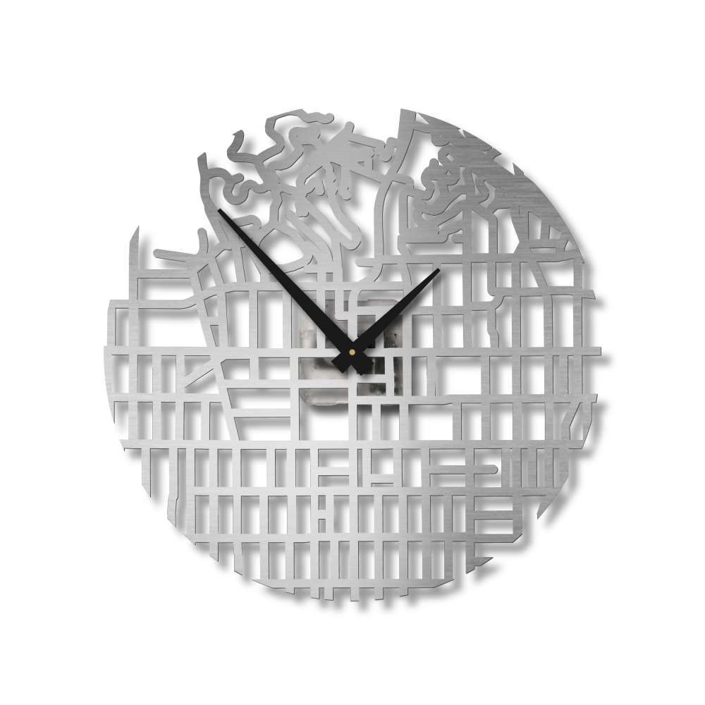 Map of Hollywood City Clock | City Clocks | Urban Story