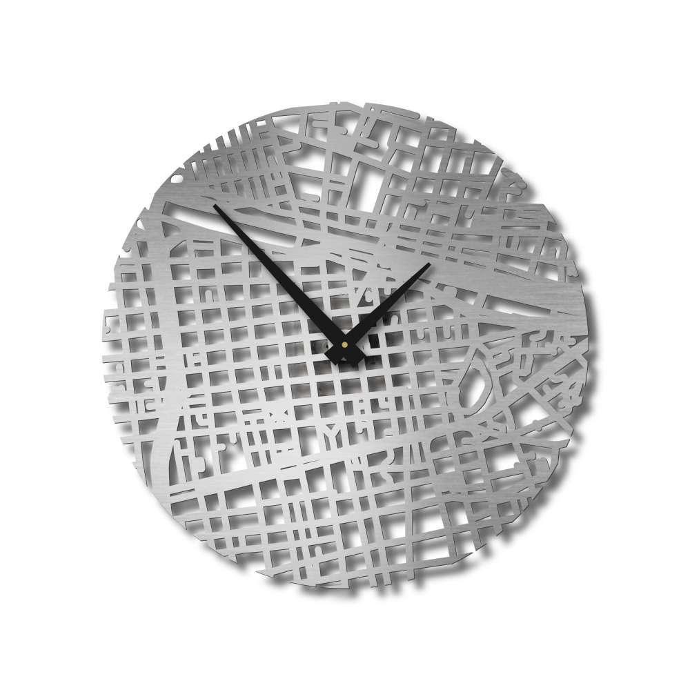 Santiago Clock   Urban Story   Wall Timepieces   Map Clocks