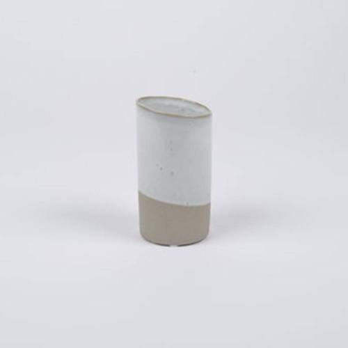 Slant Vase, Taupe