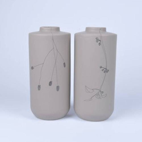 Flor Vase Set of 2, Taupe