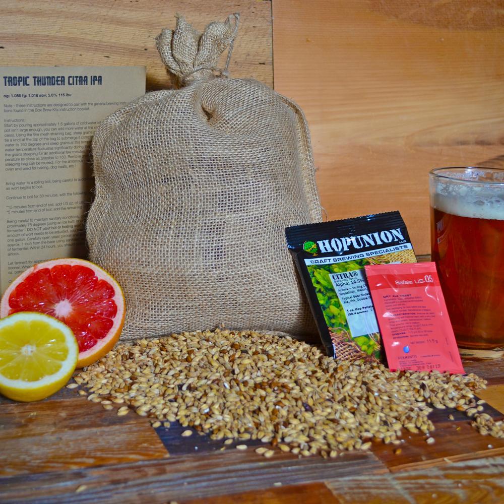 Beer Recipe Pack | Tropic Thunder Citra IPA | Box Brew Kits