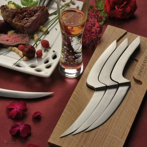 Meeting Steak Knives   Set of 4   Deglon   Stainless Steel
