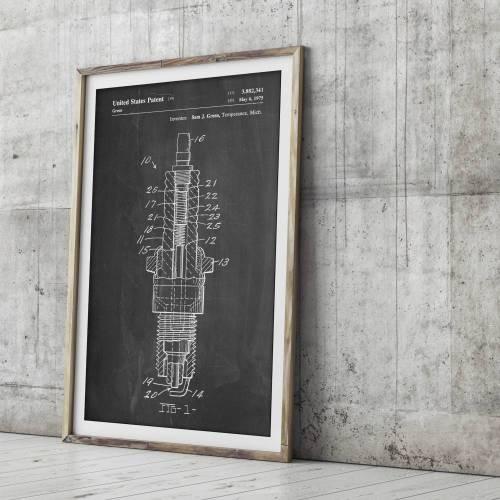 Spark Plug Patent Print - Patent Prints