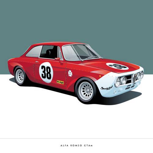Alfa Romeo GTAm Art Print