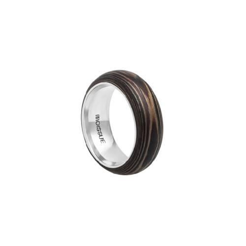 Duo Wide Ebony + Walnut Ring