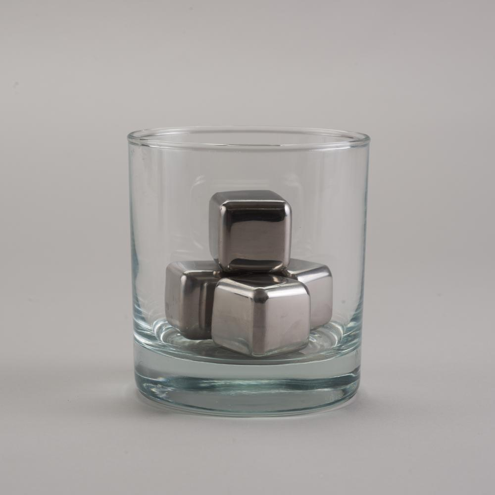 Whiskey Stones | Round Edged Stainless Steel Cubes | SipDark