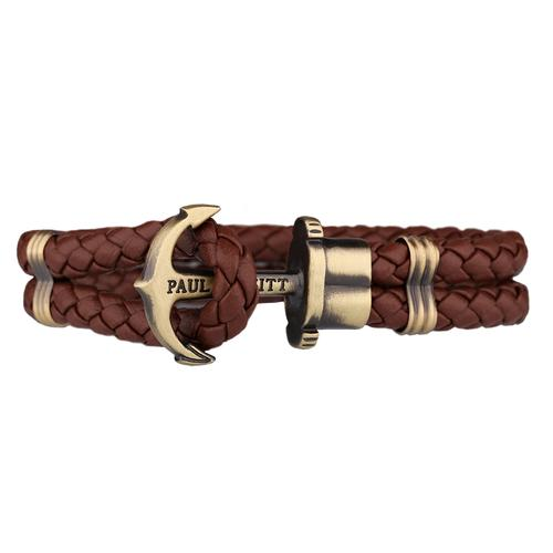 PHREP Leather Bracelet, Brown