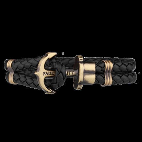 PHREP Leather Bracelet, Black - Paul Hewitt