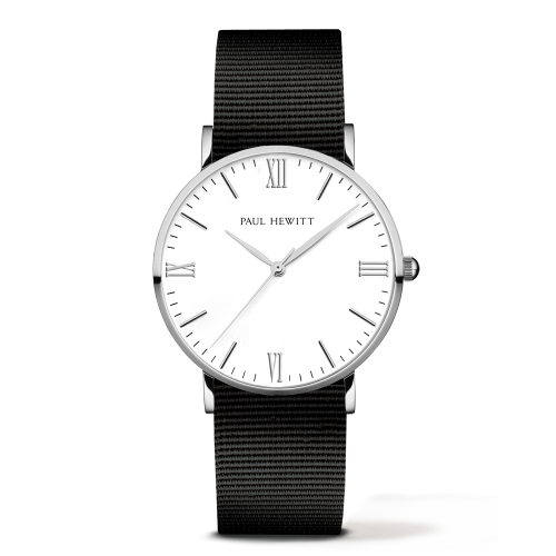 Silver Line Watch, Black - Paul Hewitt