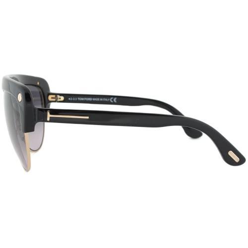 Tom Ford FT0318 01B Liane Shield Sunglasses