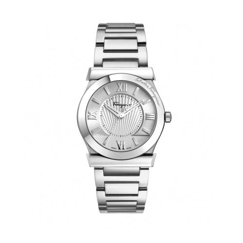 Ferragamo Mens Vega Silver Watch