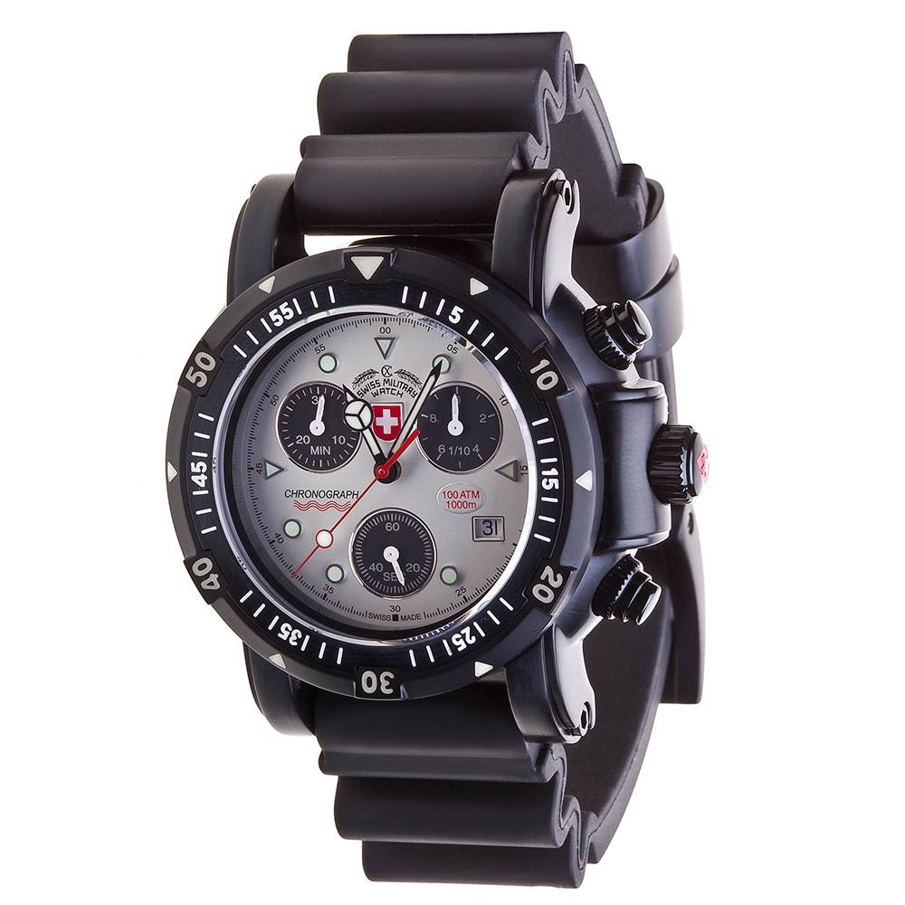 Swiss Military Watches  - SEEWOLF I SCUBA NERO, Silver
