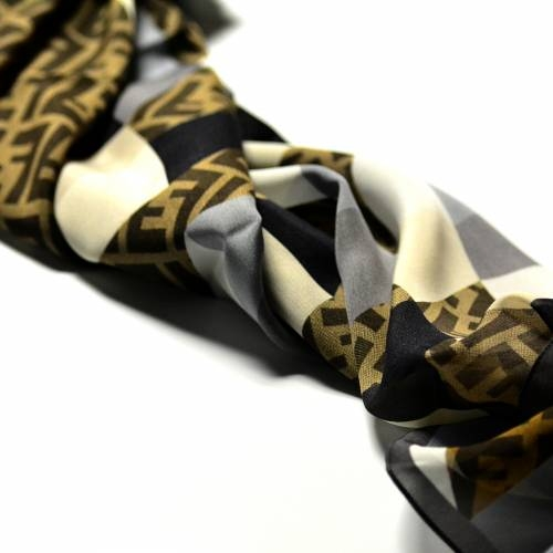 Fendi Scarf, Cream and Grey Print