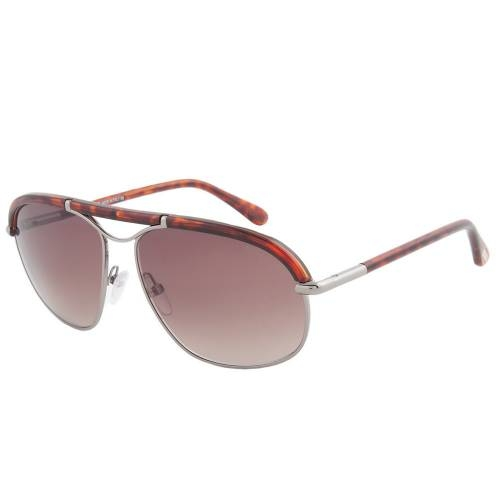 Tom Ford TF234 16B Russell Sunglasses Shiny Palladium Frame