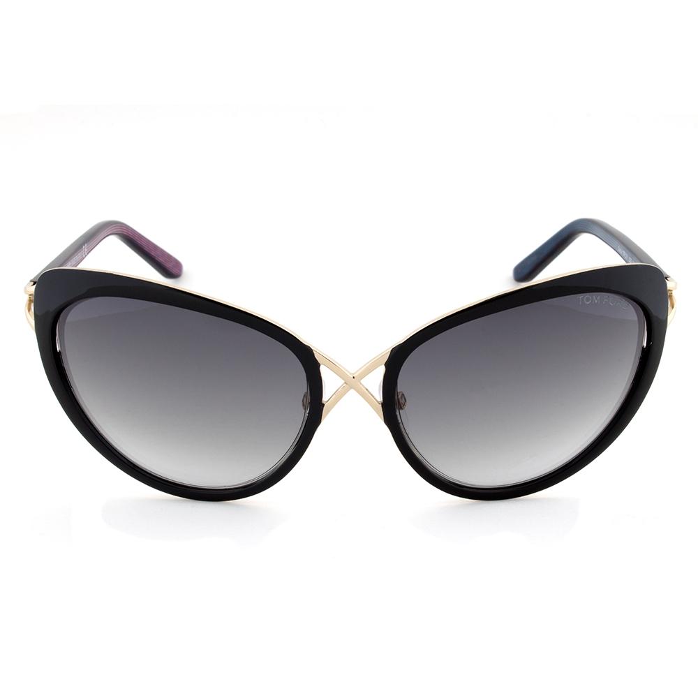 Tom Ford Daria Black and Gold Cateye Sunglasses