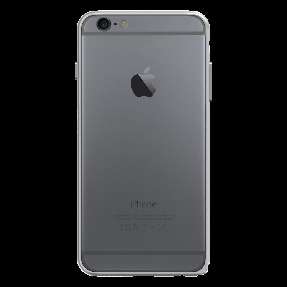 Slim Aerospace Aluminum Bumper for iPhone 6s Plus, Silver
