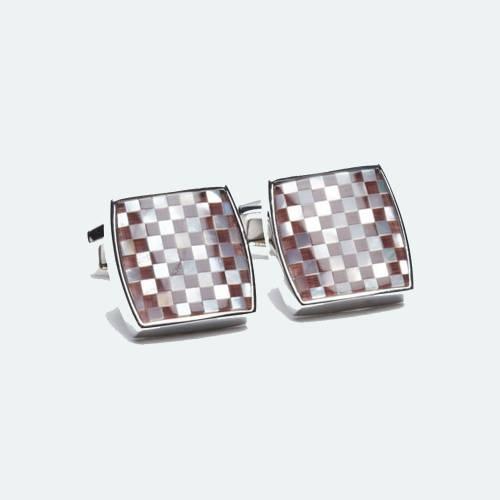 Mosaic Maroon & White