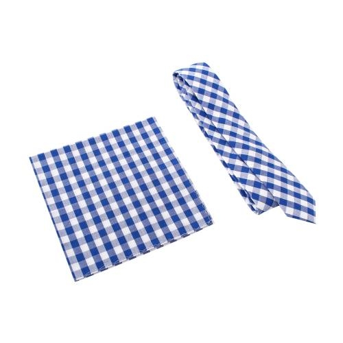 Blue Gingham w/ Pocket Square