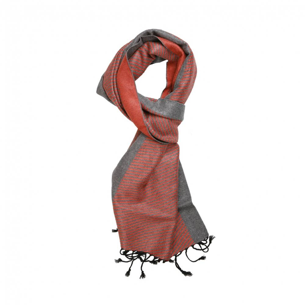 Red with Grey Scarf