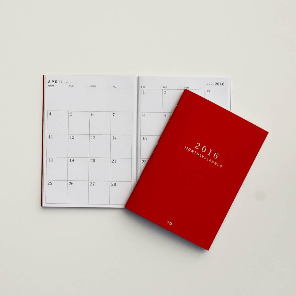 Mini Monthly Planner   Octagon Design