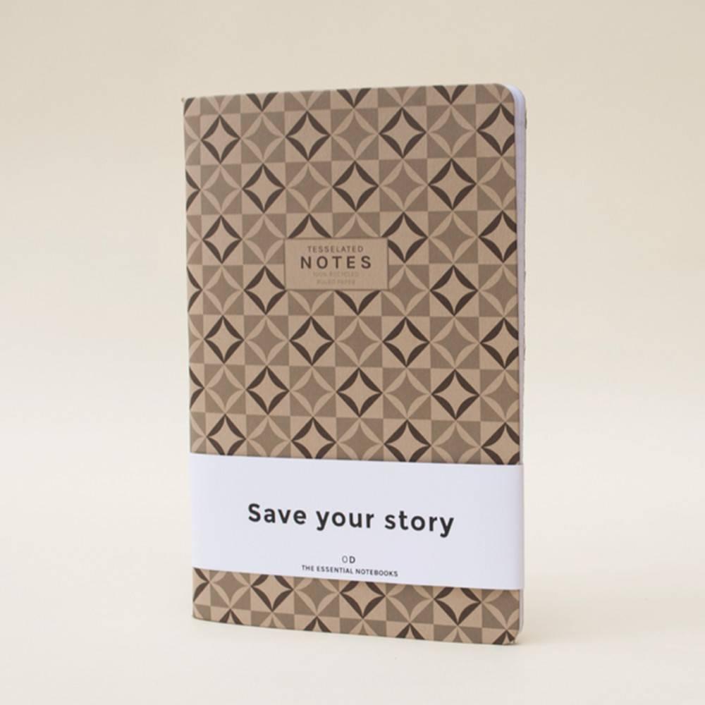 Tesselated Notebook | Set of 3 | Octagon Design