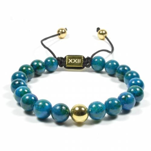 Teal Pull-Closure Bracelet
