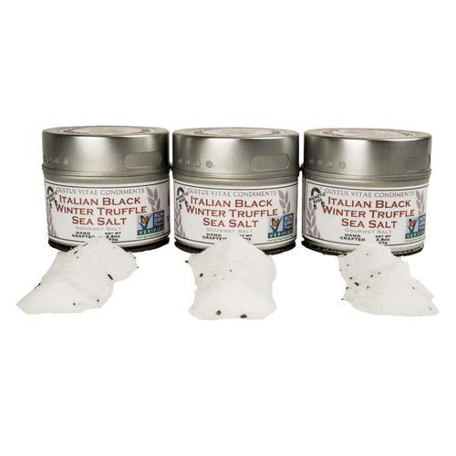Italian Black Winter Truffle Salt Set   Set of 3