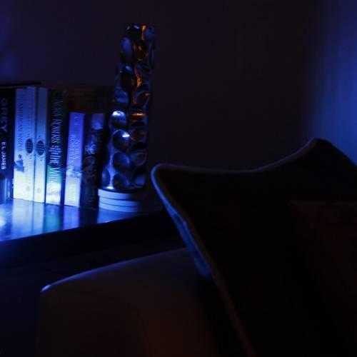 Cfab   Black shh3-lite color changing lamp