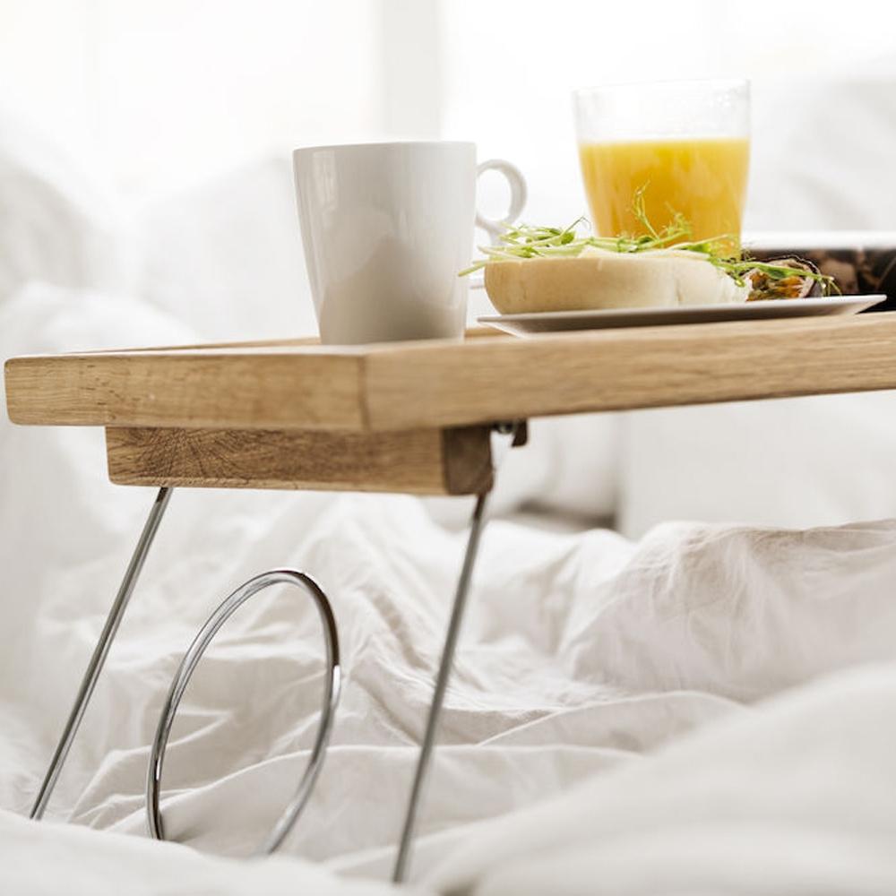 Oak bed Tray With Folding Legs   Sagaform
