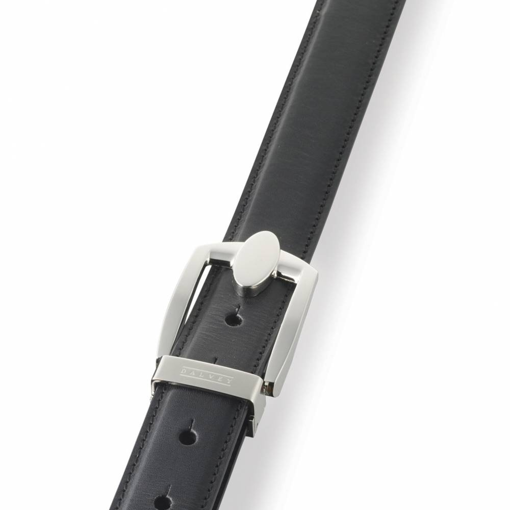 Black Eclipse Leather Belt | Dalvey