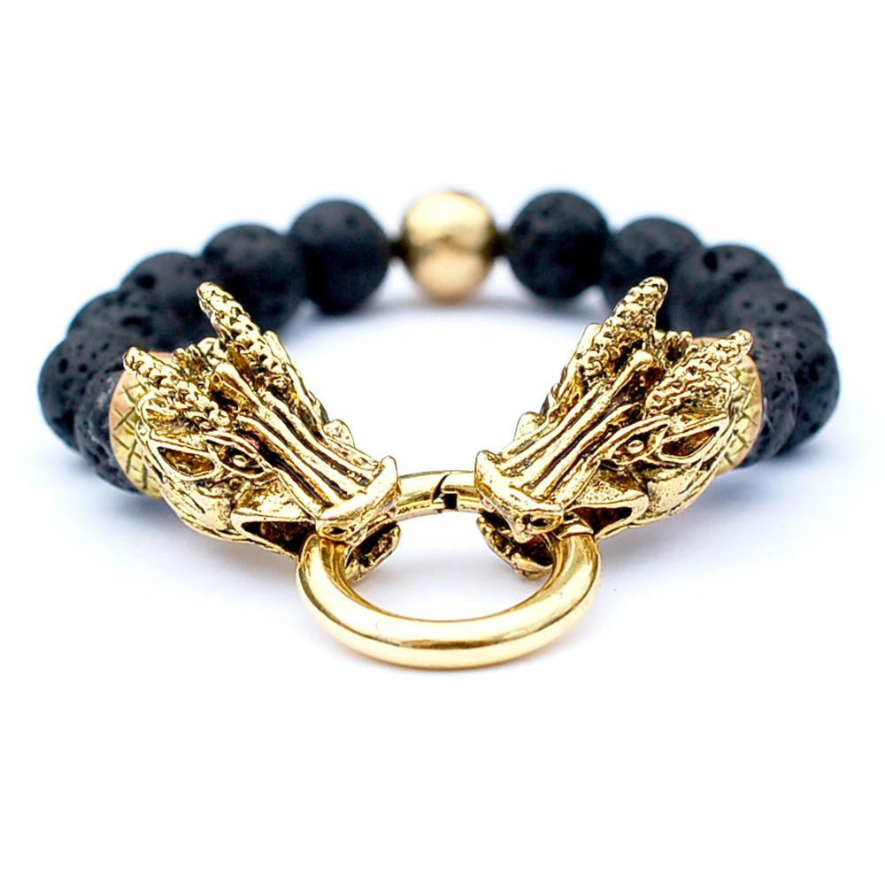 22K Gold Plated Dragon Bracelet   Who's Lookin' Design