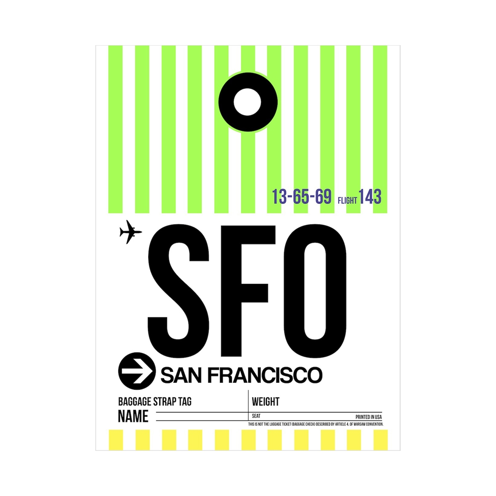 NaxArt | SFO San Francisco Poster