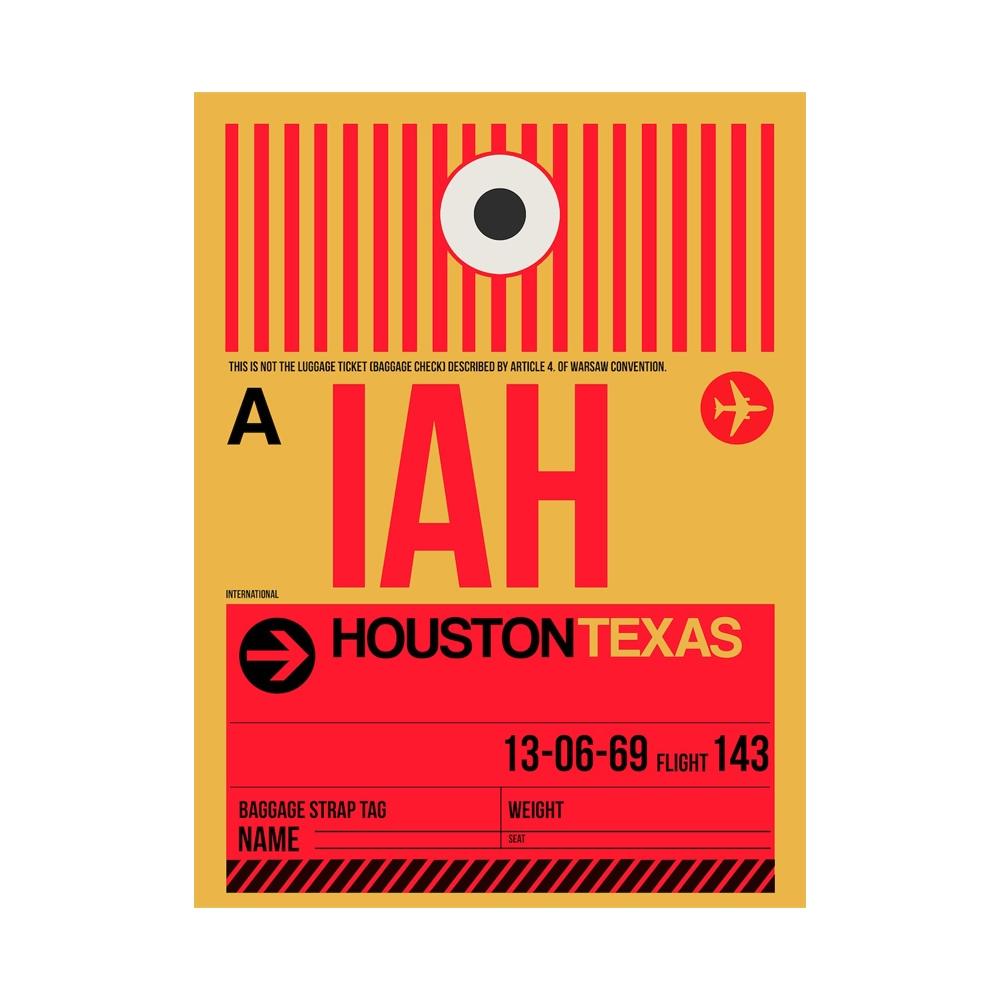 NaxArt   IAH Houston Poster