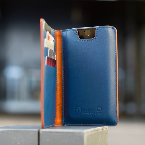 Brown/Blue iPhone Wallet Case